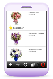 Mobile Flowers Site
